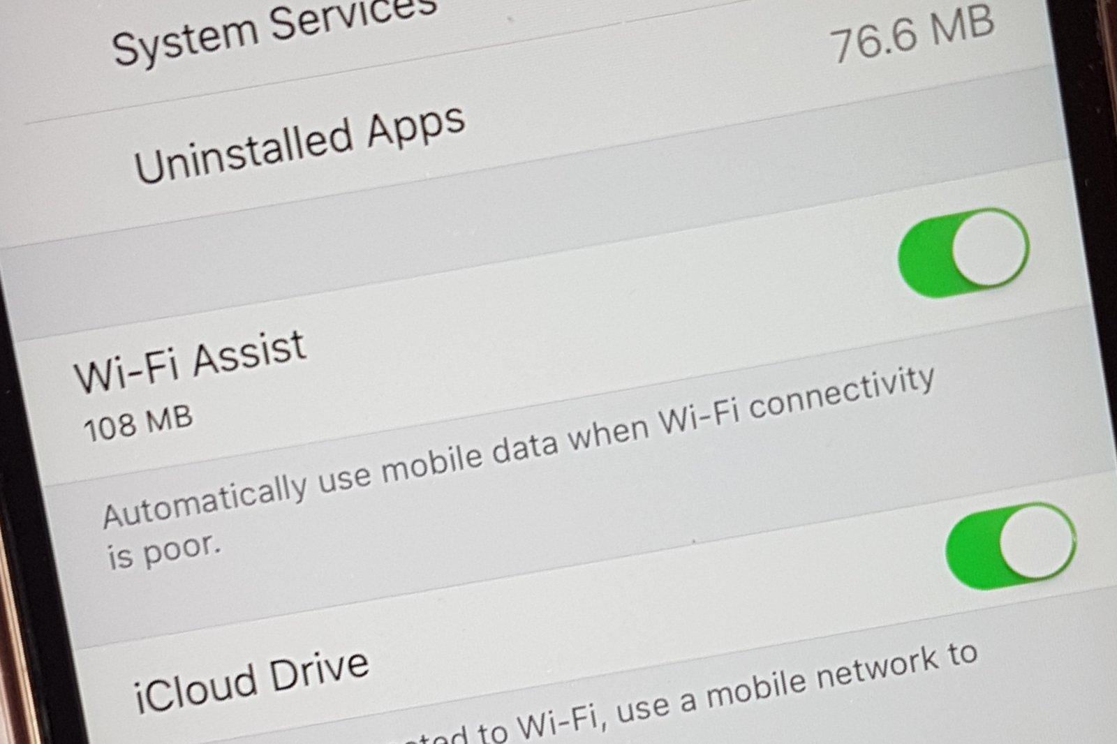 iPhone users: Beware Wi-Fi Assist!